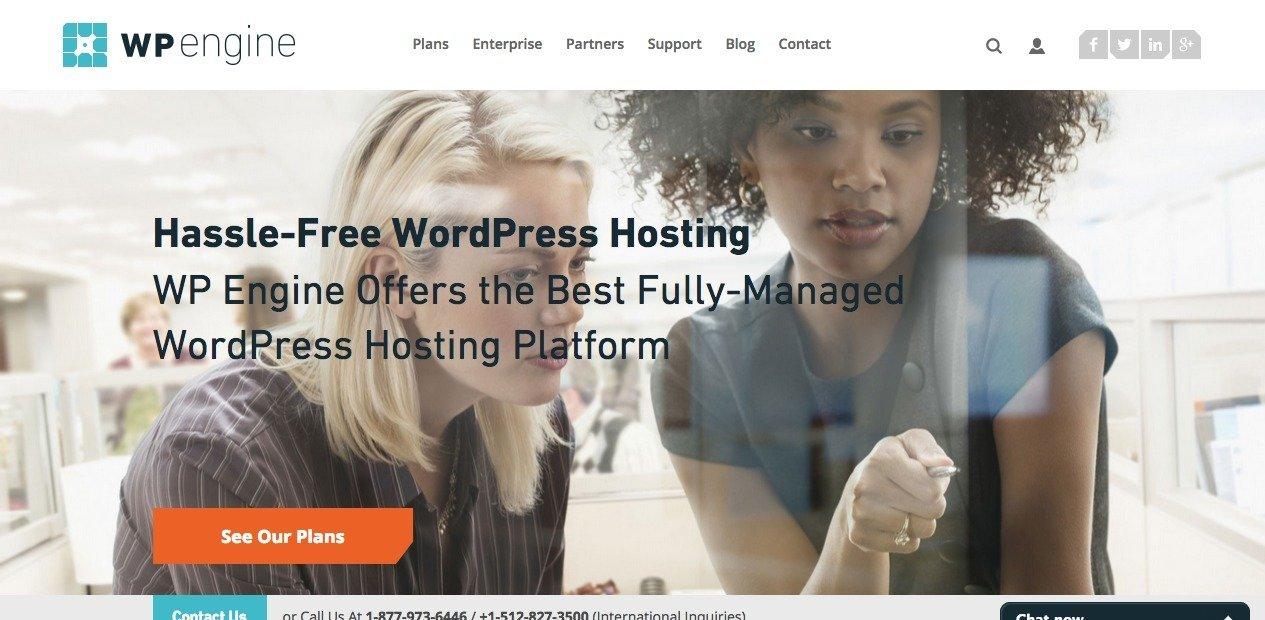 WP Engine Industry Leading Managed WordPress Hosting